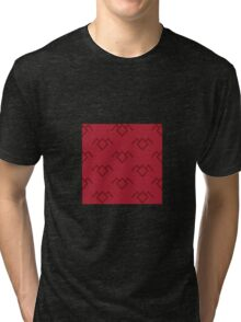 Twin Peaks Owl Petroglyph in Curtain Red Tri-blend T-Shirt