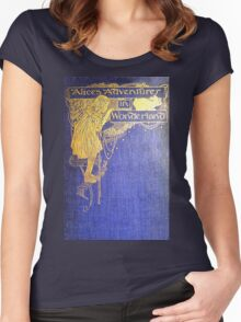 Alice's Adventures in Wonderland Book Cover Women's Fitted Scoop T-Shirt