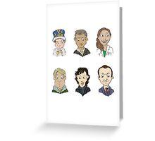 bbc sherlock cast Greeting Card