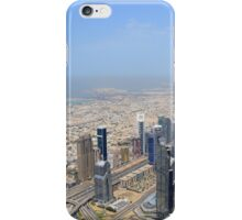 Photography of many tall buildings, skyscrapers seen from above from Dubai. United Arab Emirates. iPhone Case/Skin