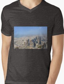 Photography of many tall buildings, skyscrapers seen from above from Dubai. United Arab Emirates. T-Shirt