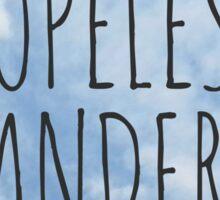 Hopeless Wanderer Sticker