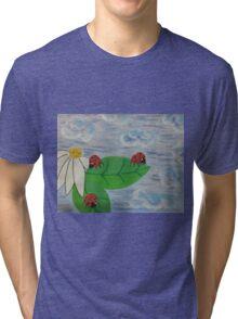 Love Bugs by Diamante Lavendar Tri-blend T-Shirt