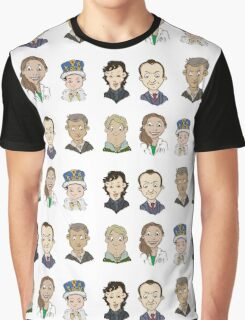 Sherlock Holmes cast Graphic T-Shirt