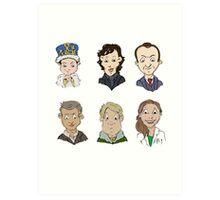 Sherlock Holmes cast Art Print