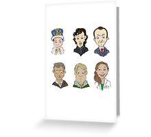 Sherlock Holmes cast Greeting Card