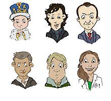 Sherlock Holmes cast Photographic Print