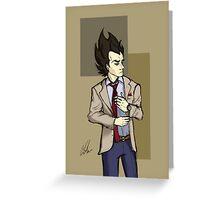 Suit Vegeta Greeting Card
