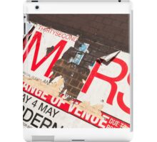 Poster Torn Ripped grunge iPad Case/Skin
