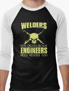 WELDER ENGINEERS Men's Baseball ¾ T-Shirt