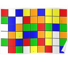 rubik cube texture Poster