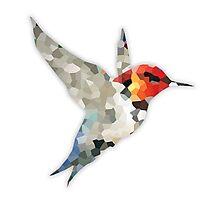Colorful Hummingbird Mosaic Photographic Print