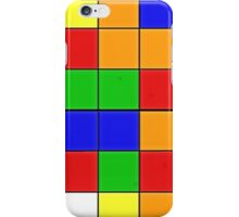 rubik cube texture iPhone Case/Skin