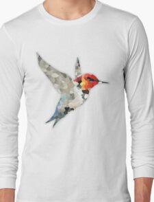 Colorful Hummingbird Mosaic Long Sleeve T-Shirt