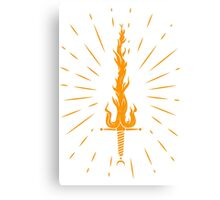 fire sword Canvas Print