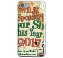 what is your sponsor this year iPhone Case/Skin