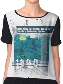 """Monkey Island's: """"From Mêlée to Monkey and all the islands in between, my love..."""" Chiffon Top"""