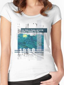 "Monkey Island's: ""From Mêlée to Monkey and all the islands in between, my love..."" Women's Fitted Scoop T-Shirt"