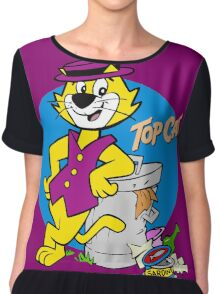 TOP CAT : CARTOON Chiffon Top