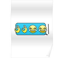 Emoji Laughing Text Response Poster