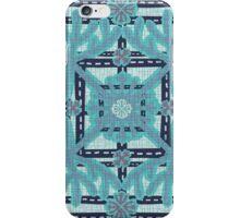 Monkey Puzzle Blue iPhone Case/Skin