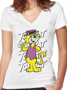 TOP CAT : CARTOON 2 Women's Fitted V-Neck T-Shirt