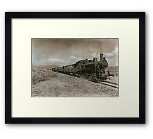 Steam Locomotive Railway Vintage Framed Print