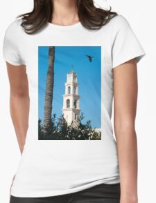 Israel, Jaffa, St Peter church and Monastery Womens Fitted T-Shirt