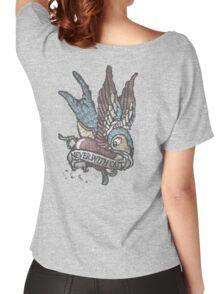 A TAT Worn Vintage Bird Tee Women's Relaxed Fit T-Shirt