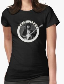 THIN LIZZY PHIL LYNOTT (WHITE) Womens Fitted T-Shirt