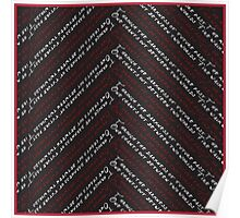 Twin Peaks Fire Walk Chevron in Black, Red &White Poster