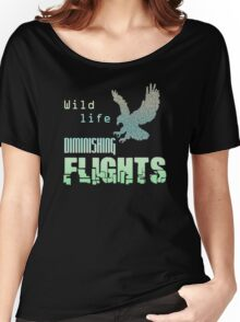 Wildlife eagle diminishing flights Women's Relaxed Fit T-Shirt