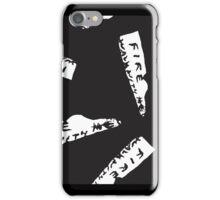 Twin Peaks Fire Walk With Me Note in Black iPhone Case/Skin