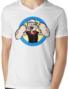 TOUGH GUY : POPEYE Mens V-Neck T-Shirt