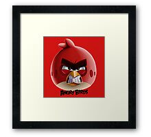 Red - Angry birds 0001 Framed Print