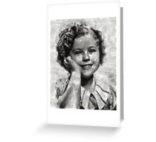 Shirley Temple by MB Greeting Card