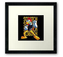 SCRATCH : VILLIANS CHARACTER Framed Print