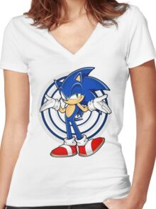 SONIC : WHAT YOUR PROBLEM? Women's Fitted V-Neck T-Shirt