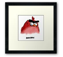 Red - Angry birds 0003 Framed Print