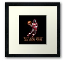 May The GOAT Be With You! Framed Print