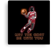 May The GOAT Be With You! Canvas Print