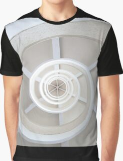 Spiral Staircase Shape Eye Graphic T-Shirt