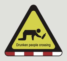 Drunken people crossing sign by iloveisaan