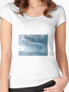 Ice stalagmites over Antarctic waters Women's Fitted Scoop T-Shirt