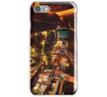 Time Traveller lost in china town art painting iPhone Case/Skin