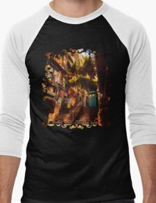 Time Traveller lost in china town art painting Men's Baseball ¾ T-Shirt
