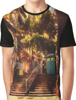 Time Traveller lost in china town art painting Graphic T-Shirt