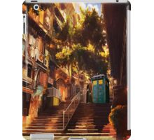 Time Traveller lost in china town art painting iPad Case/Skin