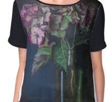 Autumnal Hydrangea Chiffon Top
