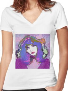 Painted Kate Women's Fitted V-Neck T-Shirt